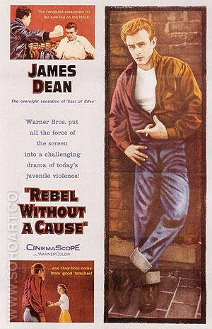 REBEL WITHOUT A CAUSE, NICHOLAS RAY, 1955 - Classic-Movie-Posters reproduction oil painting