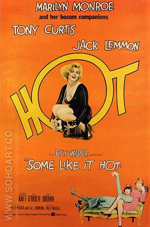SOME LIKE IT HOT, BILLY WILDER, 1959 - Classic-Movie-Posters reproduction oil painting