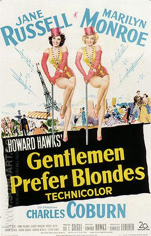 GENTLEMEN PREFER BLONDES, HOWARD HAWKS - Classic-Movie-Posters reproduction oil painting