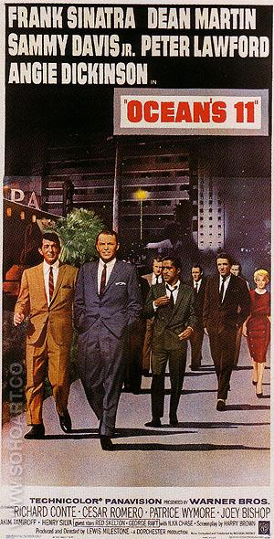 OCEAN'S 11, 1960 - Classic-Movie-Posters reproduction oil painting