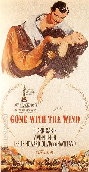 GONE WITH THE WIND, VICTOR FLEMING, 1939 - Classic-Movie-Posters reproduction oil painting