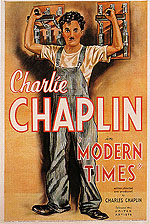 MODERN TIMES, CHARLIE CHAPLIN, 1936 - Classic-Movie-Posters reproduction oil painting