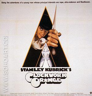 CLOCKWORK ORANGE, 1971 - Classic-Movie-Posters reproduction oil painting