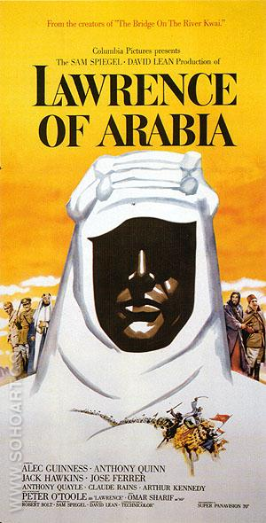 LAWRENCE OF ARABIA, 1962 - Classic-Movie-Posters reproduction oil painting