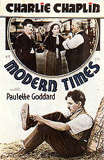 CHARLIE CHAPLIN MODERN TIMES, 1936 - Classic-Movie-Posters reproduction oil painting
