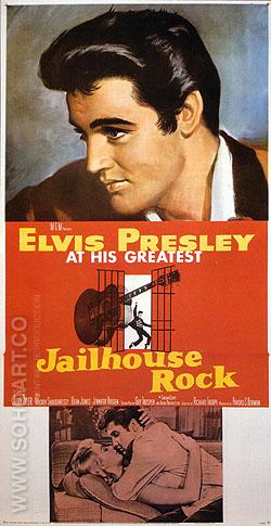 JAILHOUSE ROCK, 1957 - Classic-Movie-Posters reproduction oil painting