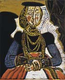 Portrait of a Woman after Cranach the Younger  1958 - Pablo Picasso reproduction oil painting