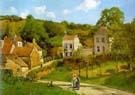 La Cote des Boeufs, the Hermitage 1877 - Camille Pissarro reproduction oil painting