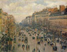 Boulevard Montmartre Afternoon Sunshine 1897 - Camille Pissarro reproduction oil painting