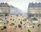 Avenue de l'Opera Misty Weather 1898 - Camille Pissarro reproduction oil painting