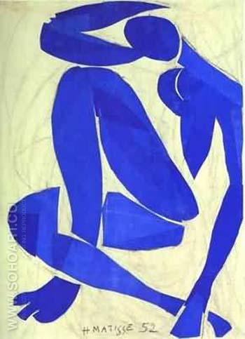 Blue Nude IV - Henri Matisse reproduction oil painting