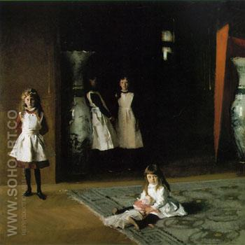 The Daughters of Edward D Boit - John Singer Sargent reproduction oil painting