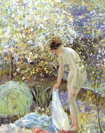 Cherry Blossoms c 1913 - Frederick Carl Frieseke reproduction oil painting