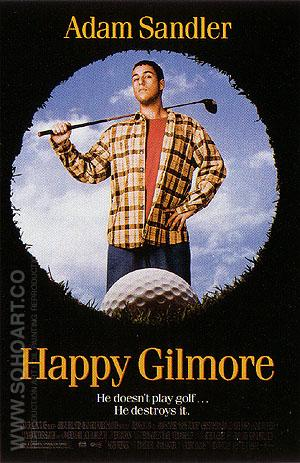 Happy Gilmore, 1996 - Sporting-Movie-Posters reproduction oil painting