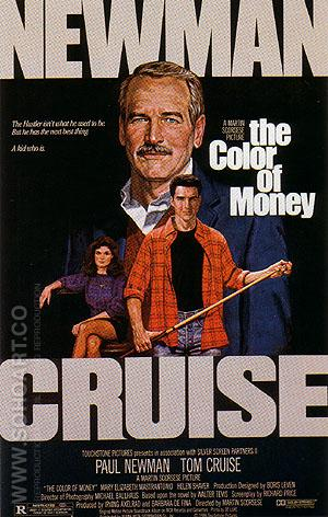 THE COLOR OF MONEY, 1986 - Sporting-Movie-Posters reproduction oil painting