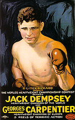 JACK DEMPSEY AND GEORGES CARPENTER, 1921 - Sporting-Movie-Posters reproduction oil painting