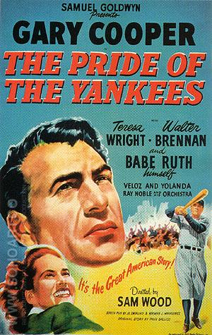 THE PRIDE OF THE YANKEES, 1949 - Sporting-Movie-Posters reproduction oil painting
