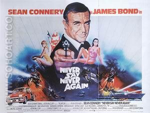 Never Say Never Again, 1984 - James-Bond-007-Posters reproduction oil painting