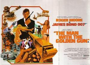 The Man With The Golden Gun, - James-Bond-007-Posters reproduction oil painting
