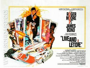 Live And Let Die, 1973 - James-Bond-007-Posters reproduction oil painting