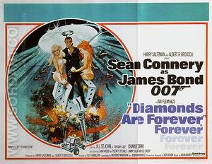 Diamonds Are Forever, 1971 - James-Bond-007-Posters reproduction oil painting
