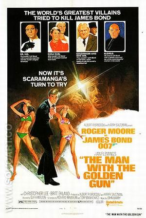 The Man With The Golden Gun - James-Bond-007-Posters reproduction oil painting