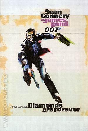 Diamonds Are Forever II - James-Bond-007-Posters reproduction oil painting