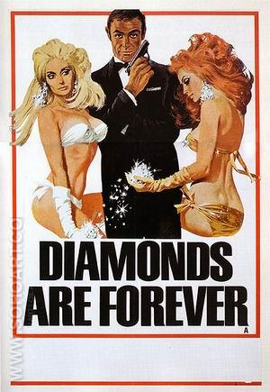 Diamonds Are Forever - James-Bond-007-Posters reproduction oil painting