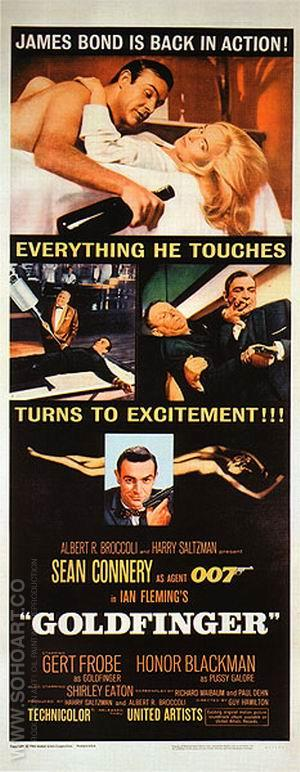 Goldfinger III - James-Bond-007-Posters reproduction oil painting