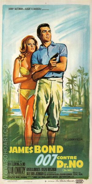 Dr. No - James-Bond-007-Posters reproduction oil painting