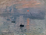 Impression Sunrise 1872 - Claude Monet reproduction oil painting