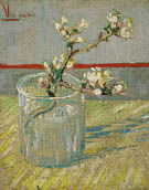 Almond Blossom Branch in a Glass 1888 - Vincent van Gogh reproduction oil painting