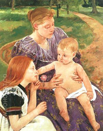 The Family 1892 - Mary Cassatt reproduction oil painting