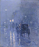 Evening in New York c 1890 - Childe Hassam reproduction oil painting