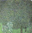 Roses under the Trees 1905 - Gustav Klimt reproduction oil painting