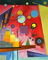 Schweres Rot Heavy Red - Wassily Kandinsky