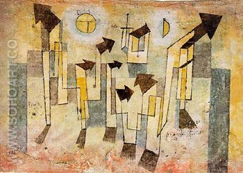 Mural from The Temple of Longing, 1922 - Paul Klee reproduction oil painting