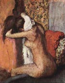 After the Bath, Woman Drying Her Nape 1895 - Edgar Degas reproduction oil painting