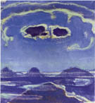 Eiger Monch and Jungfrau in the Moonlight - Ferdinand Hodler reproduction oil painting