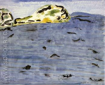 Blue Bay and Dunes - Milton Avery reproduction oil painting