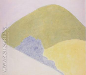 Mountain and Meadow - Milton Avery reproduction oil painting