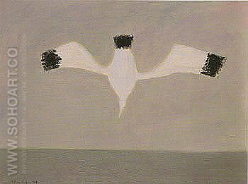 Plunging Gull - Milton Avery reproduction oil painting