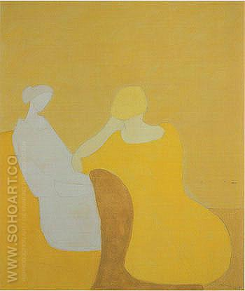 Interlude - Milton Avery reproduction oil painting