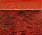 Tangerine Moon and Wine Dark Sea 1959 - Milton Avery reproduction oil painting