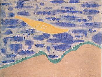 Sandbar and Seabirds 1958 - Milton Avery reproduction oil painting