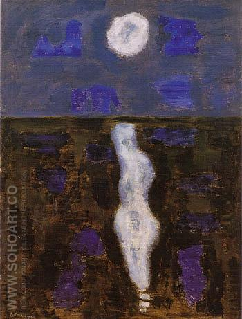 White Moon - Milton Avery reproduction oil painting