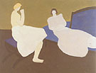 Two Figures 1957 - Milton Avery reproduction oil painting