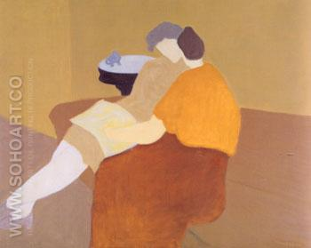 Poetry Reading - Milton Avery reproduction oil painting