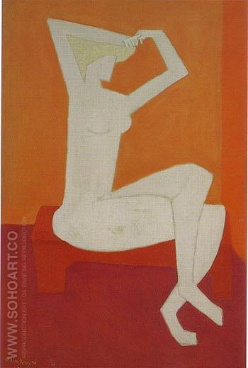 Nude Combing Hair - Milton Avery reproduction oil painting