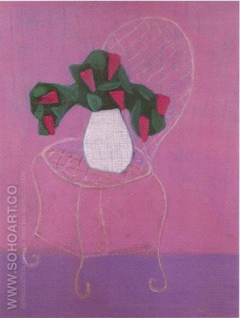 Chair with Lilacs - Milton Avery reproduction oil painting